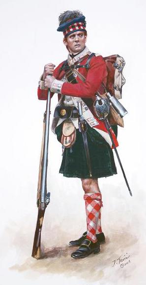 71st Fraser Highlander c1775