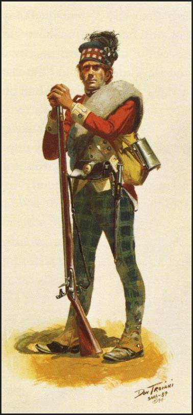 71st Fraser Highlander during the Winter Campaign 1780-81