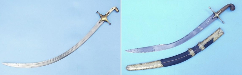 Persian Shamshire and Ottoman Kilij